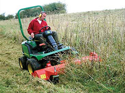 Ride On Flail Mowers for Hire from Turfleet Hire UK